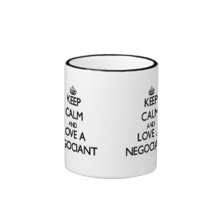 Keep Calm and Love a Negociant Coffee Mugs