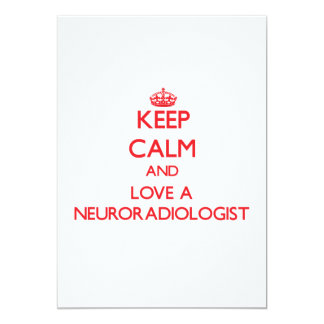 Keep Calm and Love a Neuroradiologist Personalized Announcement