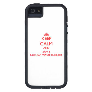 Keep Calm and Love a Nuclear Waste Engineer iPhone 5 Cover