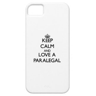Keep Calm and Love a Paralegal Cover For iPhone 5/5S