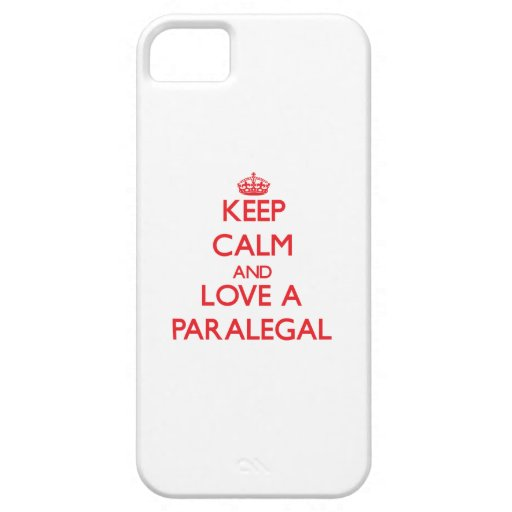 Keep Calm and Love a Paralegal Case For iPhone 5/5S