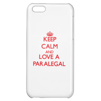 Keep Calm and Love a Paralegal iPhone 5C Cases