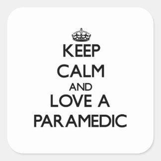 Keep Calm and Love a Paramedic Sticker