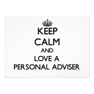 Keep Calm and Love a Personal Adviser Custom Invites