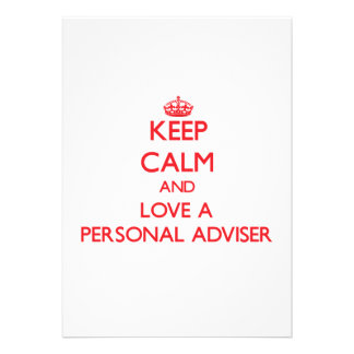 Keep Calm and Love a Personal Adviser Personalized Invite