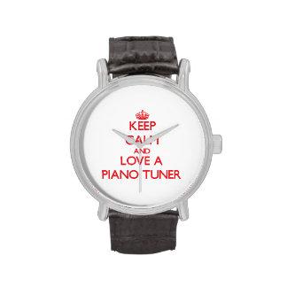 Keep Calm and Love a Piano Tuner Wrist Watch