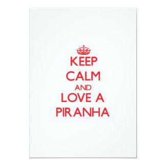 Keep calm and Love a Piranha 13 Cm X 18 Cm Invitation Card