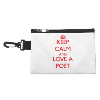 Keep Calm and Love a Poet Accessories Bag