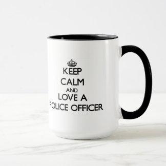 Keep Calm and Love a Police Officer Mug