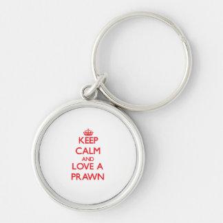 Keep calm and Love a Prawn Keychain