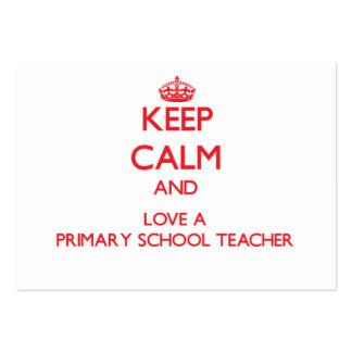Keep Calm and Love a Primary School Teacher Business Card Templates