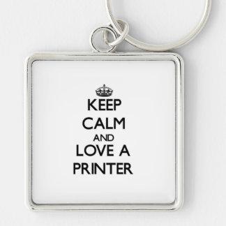 Keep Calm and Love a Printer Key Chain