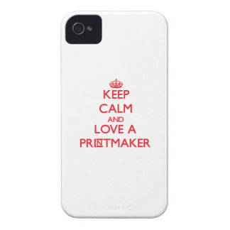 Keep Calm and Love a Printmaker iPhone 4 Cases