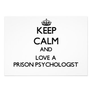 Keep Calm and Love a Prison Psychologist Custom Announcements