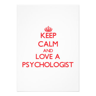 Keep Calm and Love a Psychologist Personalized Announcement