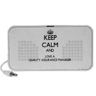 Keep Calm and Love a Quality Assurance Manager Notebook Speakers