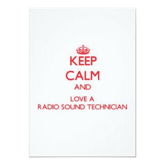 Keep Calm and Love a Radio Sound Technician 13 Cm X 18 Cm Invitation Card