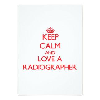 Keep Calm and Love a Radiographer Invitation