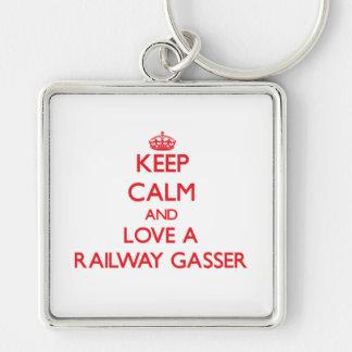Keep Calm and Love a Railway Gasser Keychain
