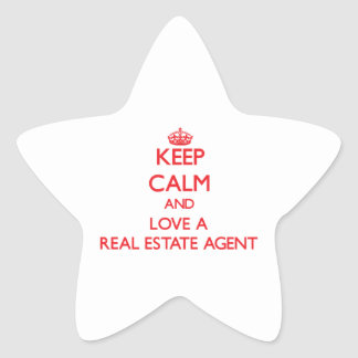 Keep Calm and Love a Real Estate Agent Stickers