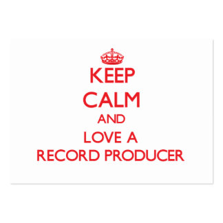 Keep Calm and Love a Record Producer Pack Of Chubby Business Cards