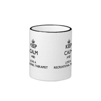 Keep Calm and Love a Recreational arapist Ringer Mug