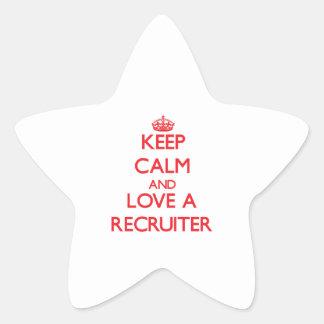 Keep Calm and Love a Recruiter Star Sticker