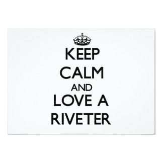 Keep Calm and Love a Riveter Custom Invite