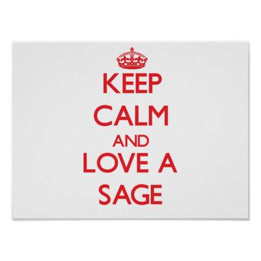 Keep Calm and Love a Sage Posters