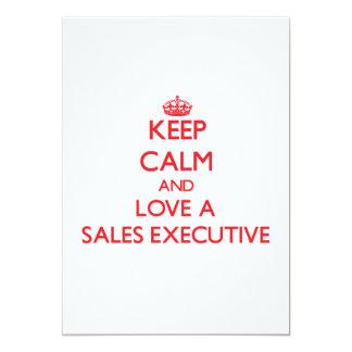 Keep Calm and Love a Sales Executive Invites