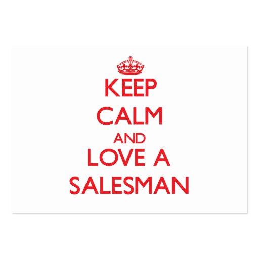 Keep Calm and Love a Salesman Business Card Template