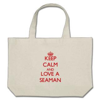 Keep Calm and Love a Seaman Tote Bag