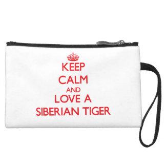 Keep calm and Love a Siberian Tiger Wristlet Purse