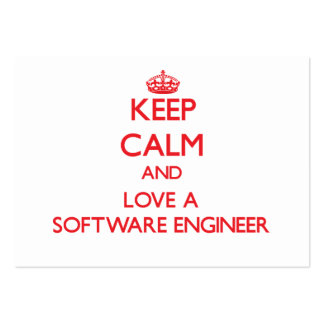 Keep Calm and Love a Software Engineer Business Cards