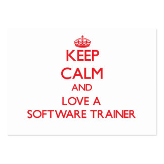 Keep Calm and Love a Software Trainer Business Card