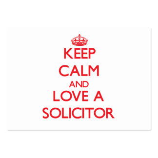 Keep Calm and Love a Solicitor Pack Of Chubby Business Cards