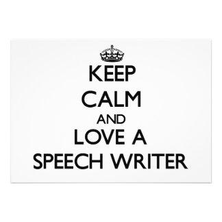 Keep Calm and Love a Speech Writer Cards
