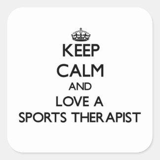 Keep Calm and Love a Sports arapist Sticker