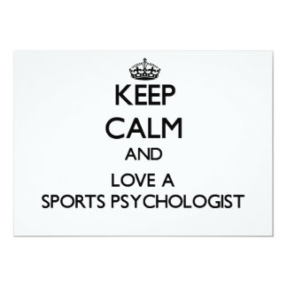 Keep Calm and Love a Sports Psychologist Custom Announcements
