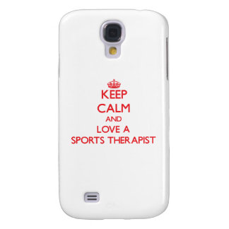 Keep Calm and Love a Sports Therapist Samsung Galaxy S4 Cover