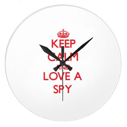 Keep Calm and Love a Spy Wallclocks