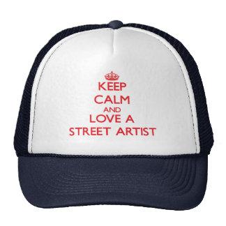 Keep Calm and Love a Street Artist Mesh Hat