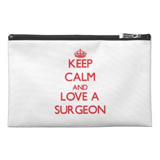 Keep Calm and Love a Surgeon Travel Accessory Bag