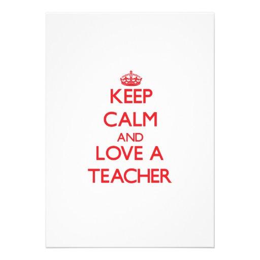 Keep Calm and Love a Teacher Cards