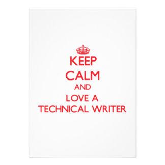 Keep Calm and Love a Technical Writer Custom Announcement