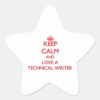 Keep Calm and Love a Technical Writer Sticker