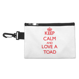 Keep calm and Love a Toad Accessory Bags