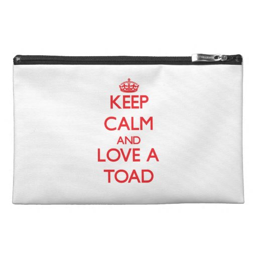 Keep calm and Love a Toad Travel Accessories Bags