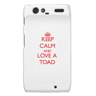 Keep calm and Love a Toad Motorola Droid RAZR Covers