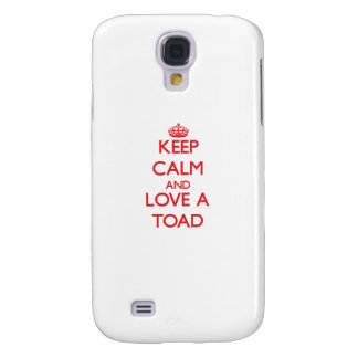 Keep calm and Love a Toad Samsung Galaxy S4 Cover